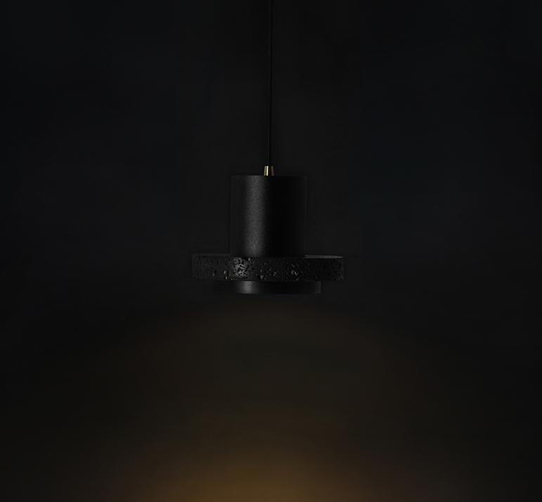Buzao-Calm-Small-Lava-Stone-Pendant-Lamp-Savannah-Bay-Gallery-3