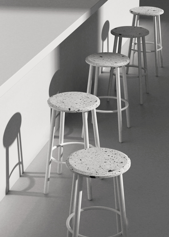 Design Stools Metal Concrete Terrazzo Contemporary Design