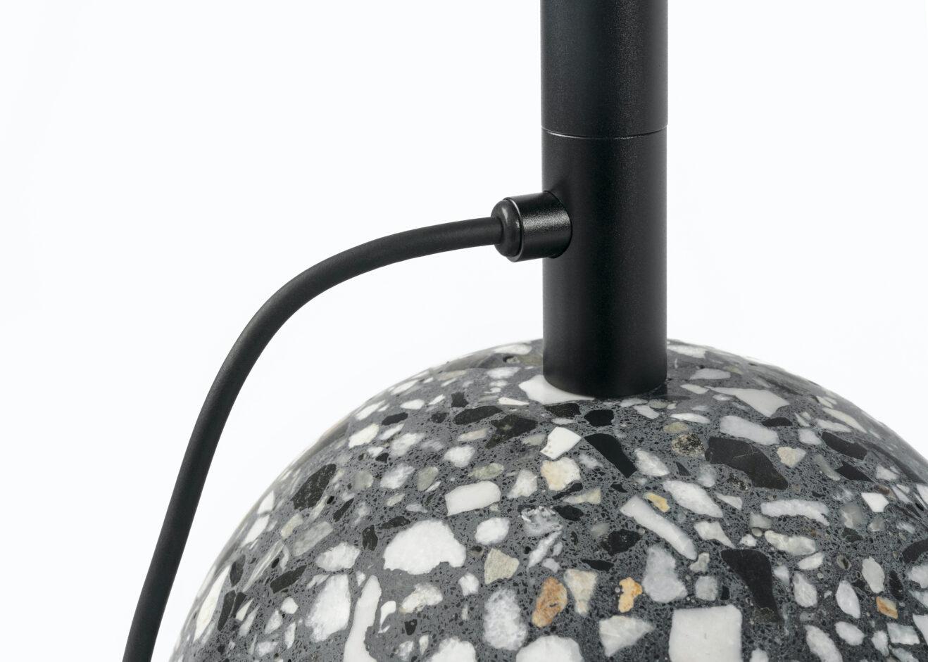 Floor Lamp '8' (black terrazzo) by Bentu Design 2