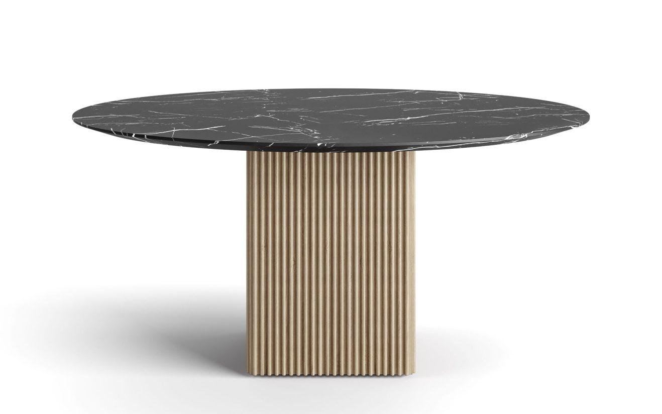 Table de salle à manger en marbre Ten (ronde) par DK3 2